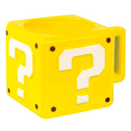 Taza 3D Question Block Super Mario Bros Nintendo