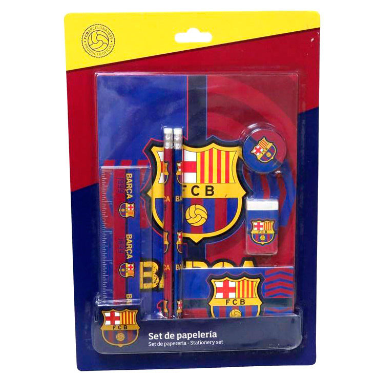 Set papeleria FC Barcelona 7pzs
