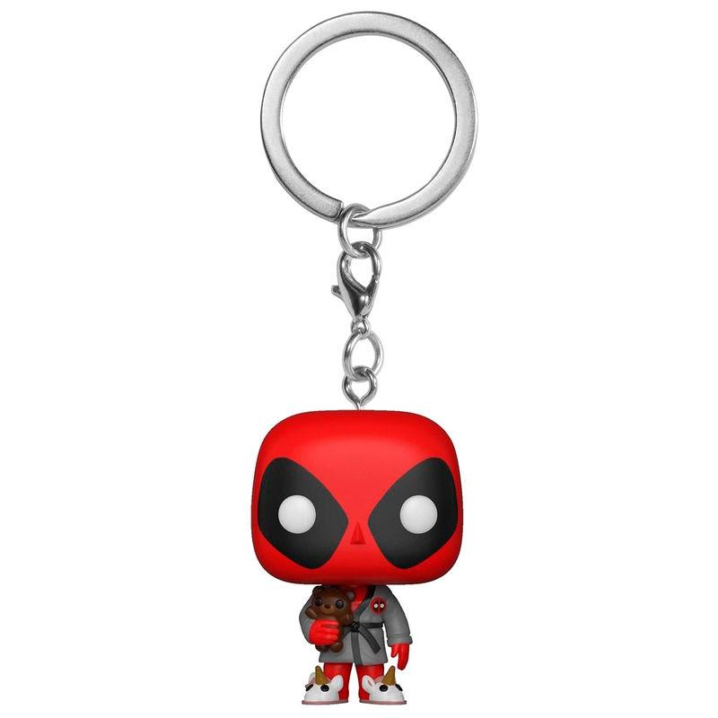 Llavero Pocket POP Marvel Deadpool Bath Robe Exclusive 889698317337