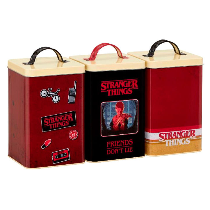 Set 3 latas Retro Logo Stranger Things (1)