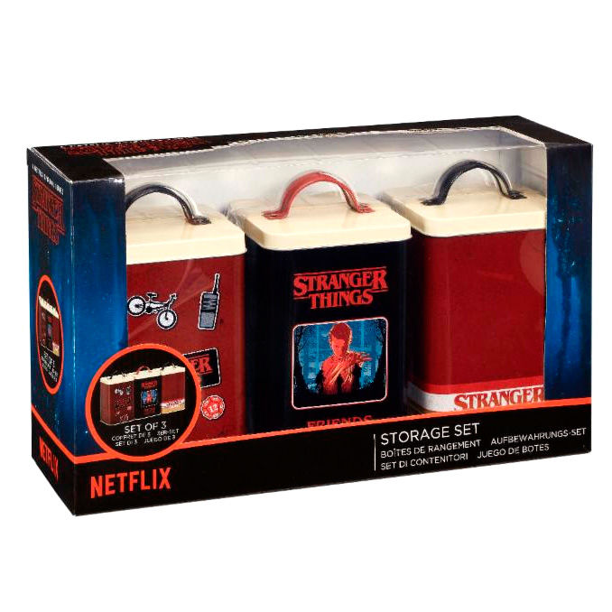 Set 3 latas Retro Logo Stranger Things