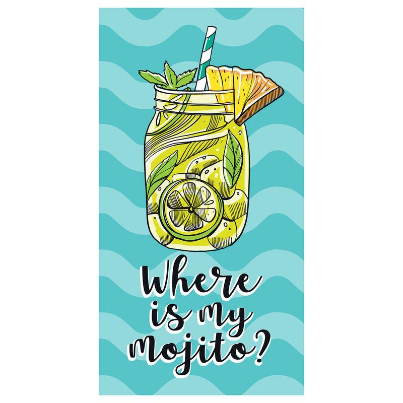 Toalla Where Is My Mojito microfibra 8436583370094