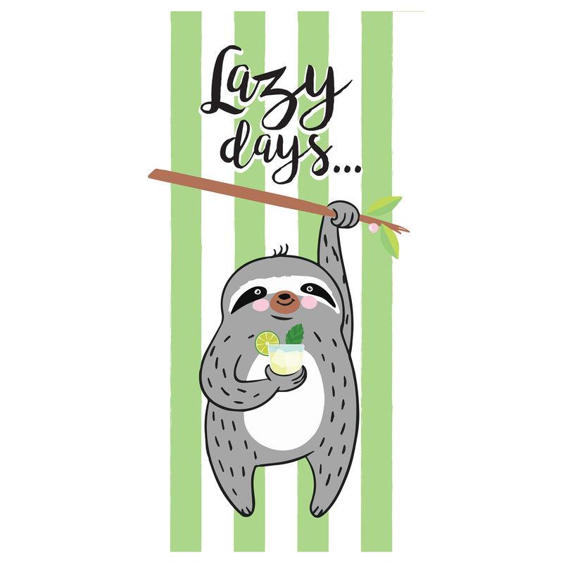 Toalla Lazy Days microfibra 8436583370117