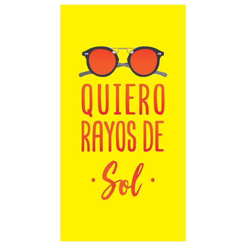 Toalla Quiero Rayos De Sol microfibra 8436583370131