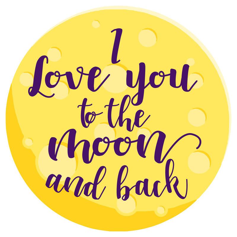 Toalla redonda I Love You To The Moon And Back microfibra 8436583370346