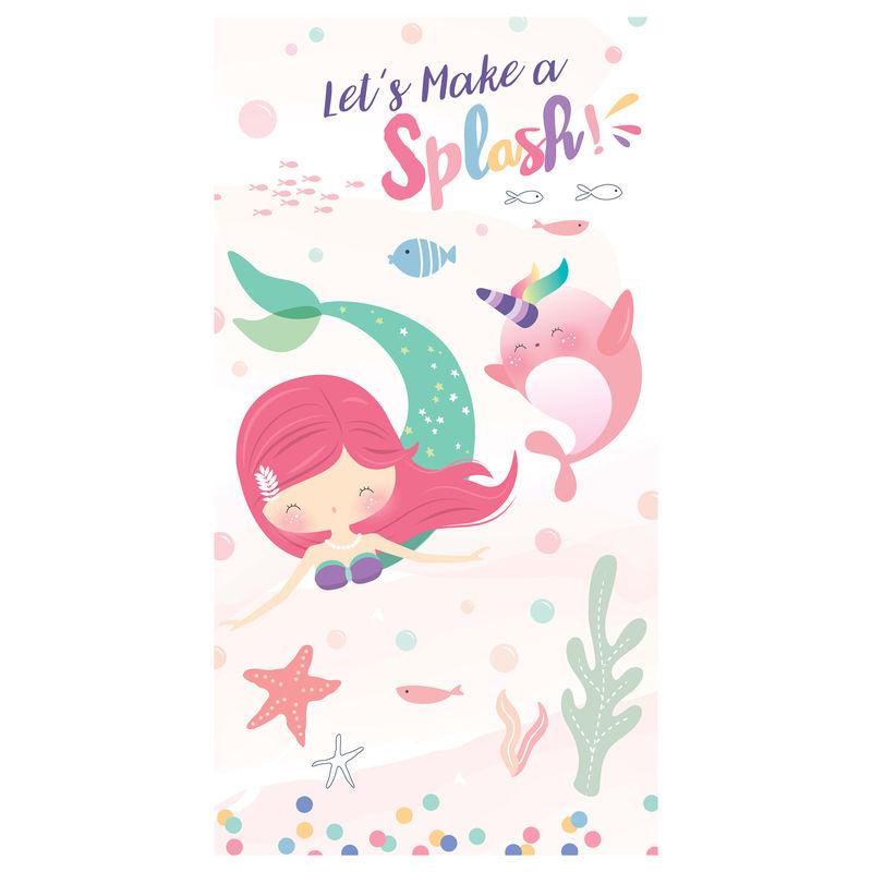 Toalla Sirena Lets Make a Splash microfibra 8436583370322