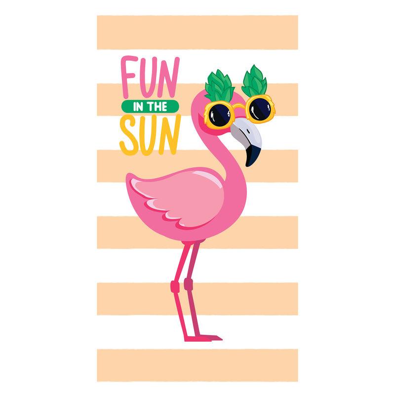 Toalla Flamingo Fun In The Sun microfibra 8436583370315
