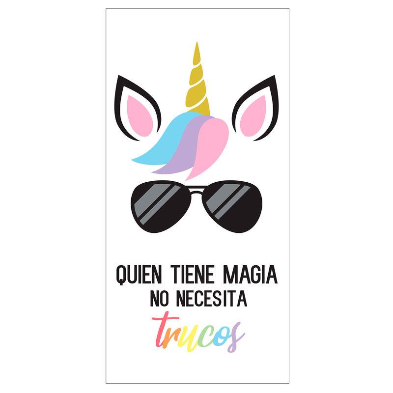 Toalla Quien Tiene Magia No Necesita Trucos microfibra 8436583370049