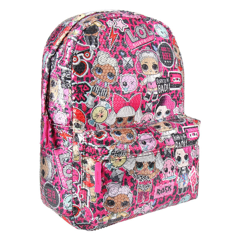 Mochila lentejuelas LOL Surprise 42cm