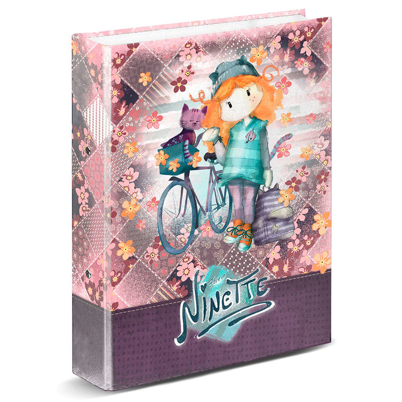 Carpeta A4 Ninette Bicycle anillas