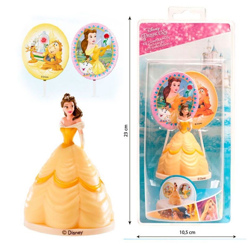 Kit decoracion tartas Bella Disney pinchos
