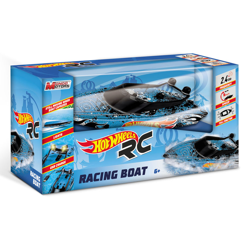 Lancha motora Racing Boat Hot Wheels radion control