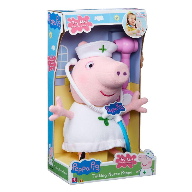 Peluche Enfermera Peppa Pig con sonido