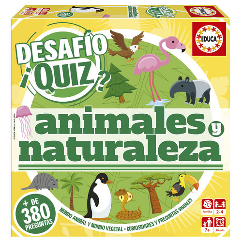 Challenge Quiz Animals and Nature board game