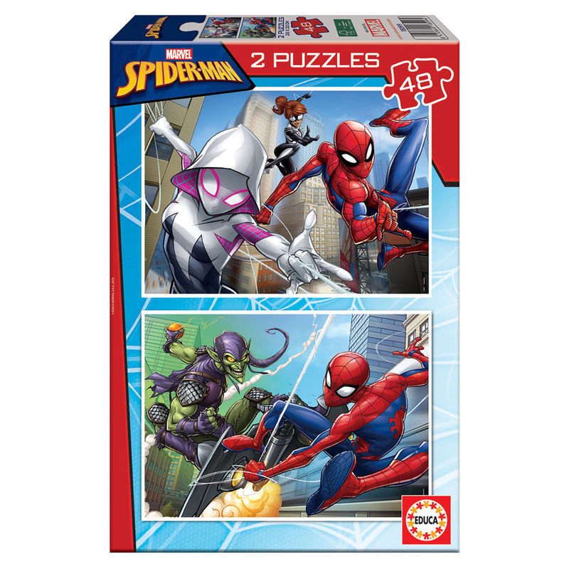 Puzzle Spiderman Marvel 2x48pzs 8412668180994