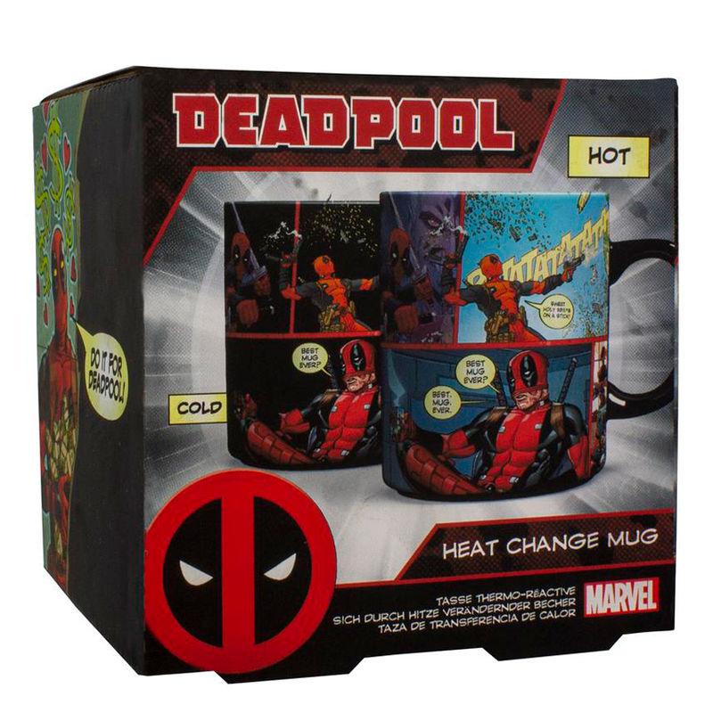 Taza termica Deadpool Marvel