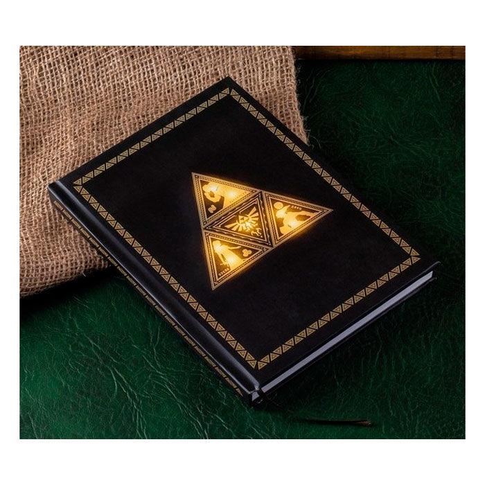 Libreta retroiluminada Zelda TriForce