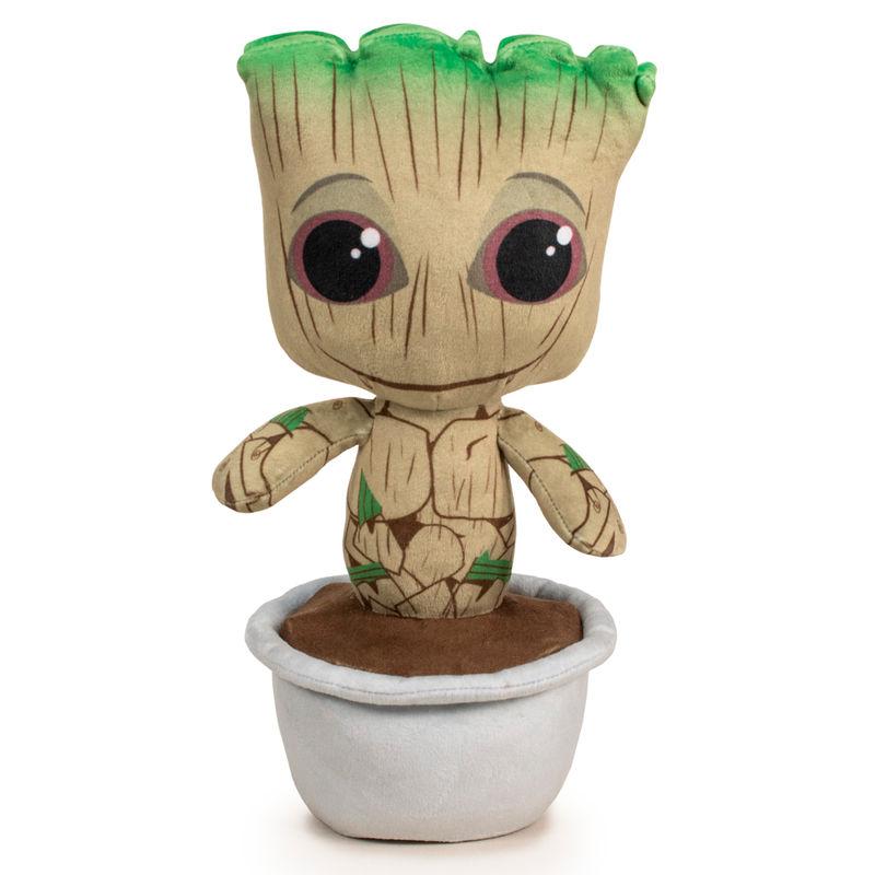 Peluche Baby Groot maceta Guardianes de la Galaxia Marvel 29cm