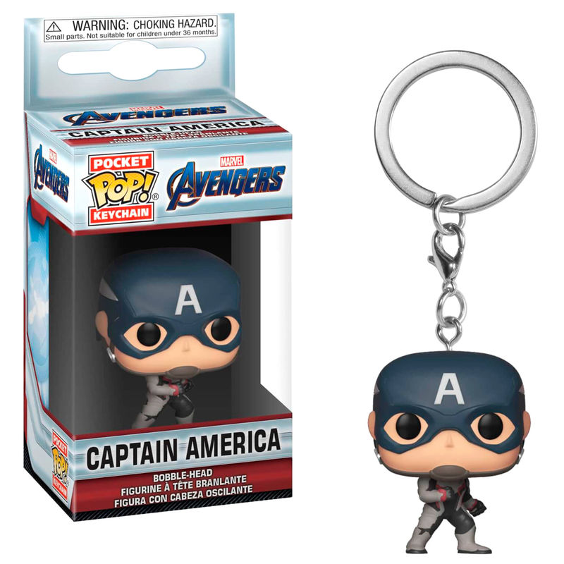 Llavero Pocket POP Marvel Avengers Endgame Captain America