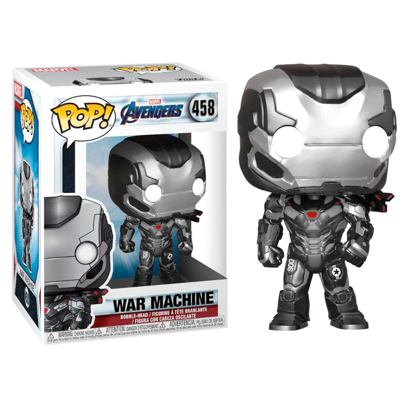 WAR MACHINE, MAQUINA DE GUERRA, END GAME, MARVEL, POP FUNKO