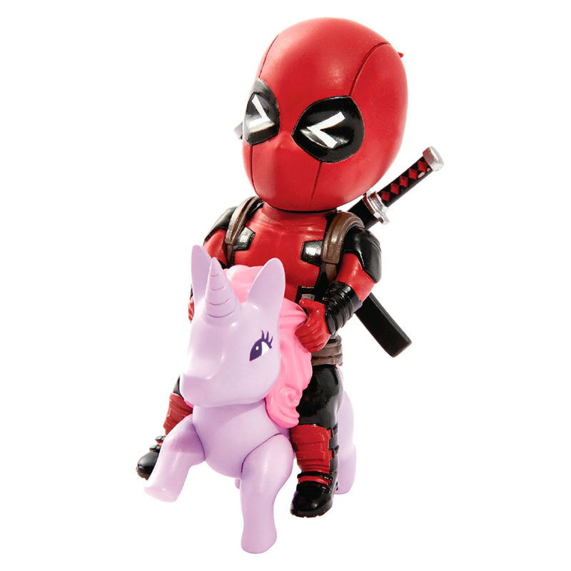 Figura Mini Egg Attack Deadpool Unicornio Marvel