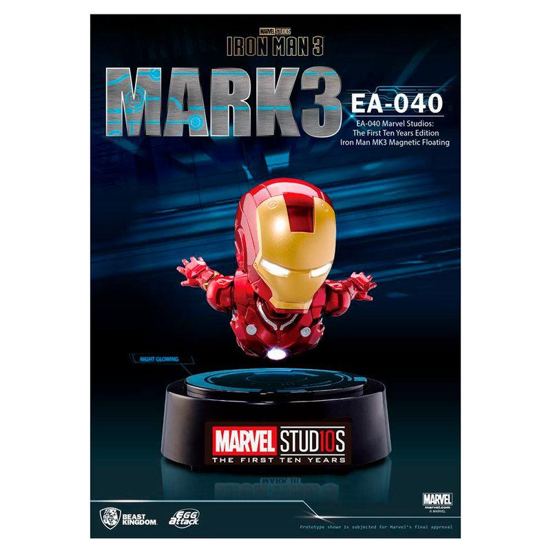 Figura Egg Attack Iron Man Mark III levitador Marvel