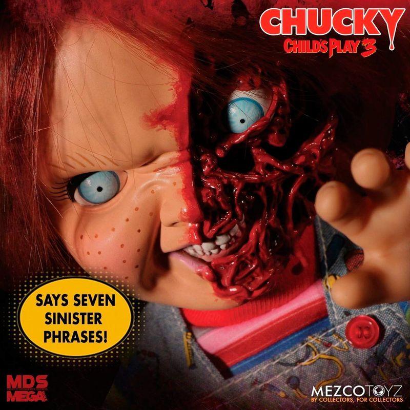 Figura Chucky el Muñeco Diabólico 37cm Talking Pizza Face sonido