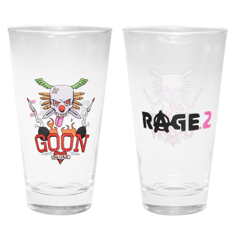 Rage 2 Goon Tattoo pint glass