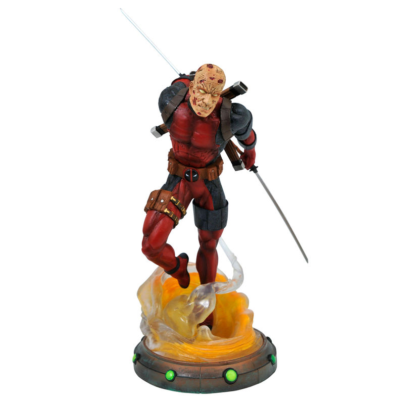Figura Deadpool desenmascarado Marvel diorama