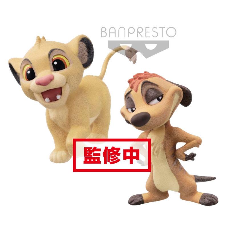 Set figuras Simba & Timon El Rey Leon Disney Fluffy Q Posket