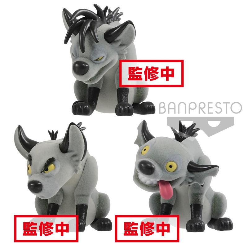 Set figuras Banzai Shenzi & Ed El Rey Leon Disney Fluffy Q Posket