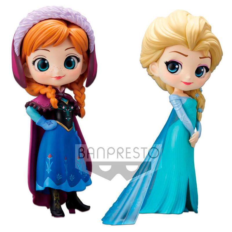 Set figuras Anna & Elsa Frozen Disney Q Posket