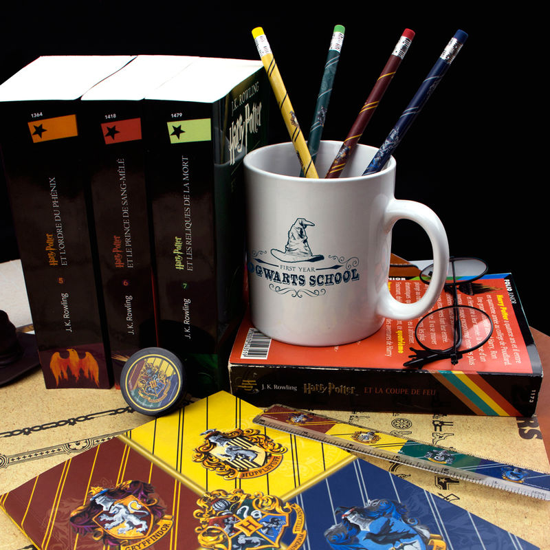 Set papeleria Hogwarts Houses Harry Potter