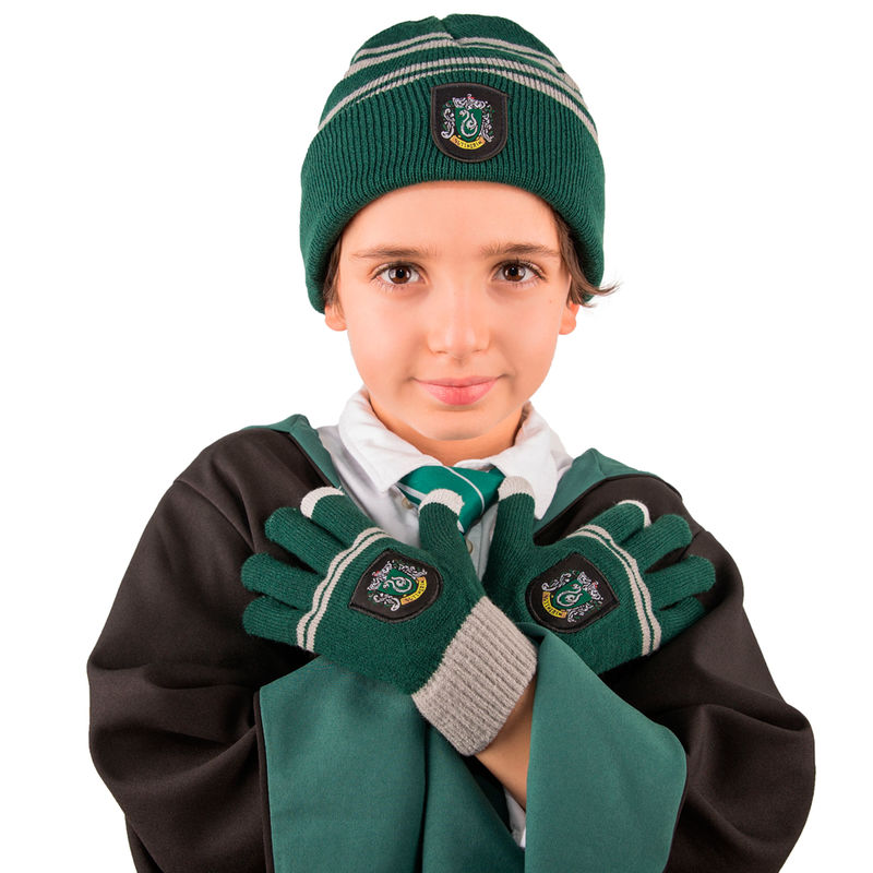 Set gorro + guantes Slytherin Harry Potter infantil