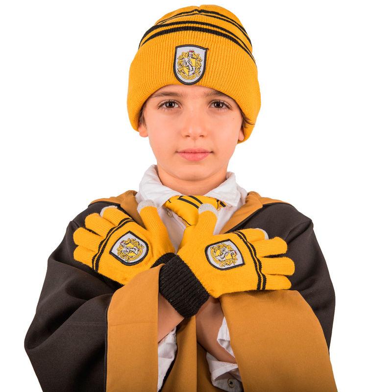 Set gorro + guantes Hufflepuff Harry Potter infantil