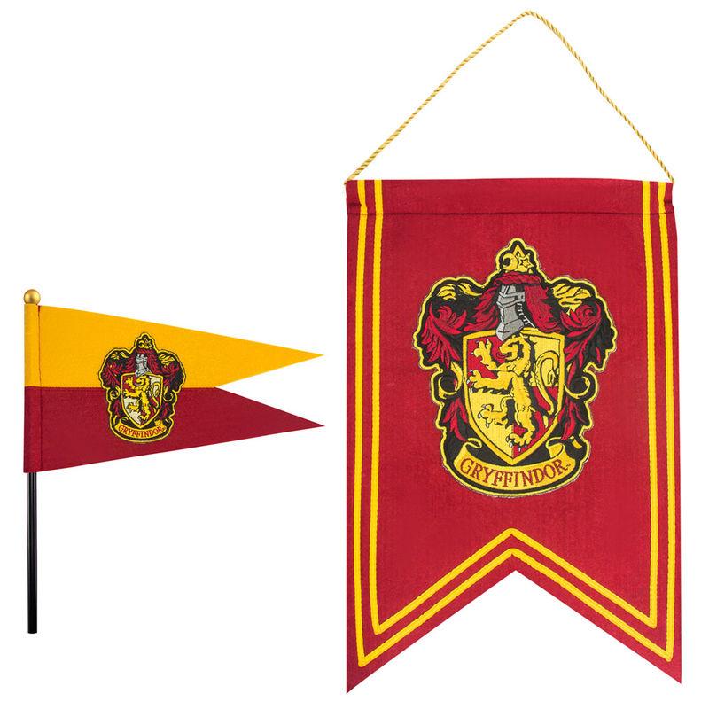 Set bandera y banderin Gryffindor Harry Potter