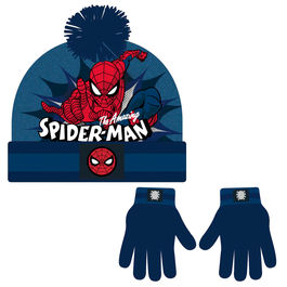 Conjunto gorro guantes Spiderman Marvel