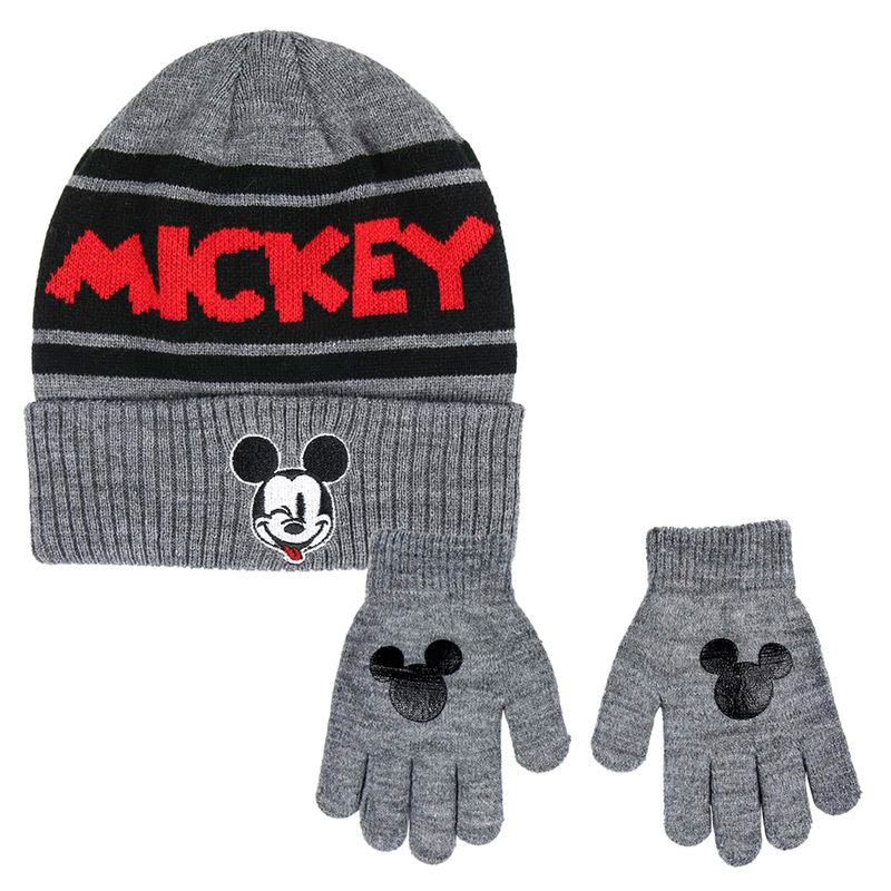 Conjunto gorro guantes Mickey Disney 8427934291250