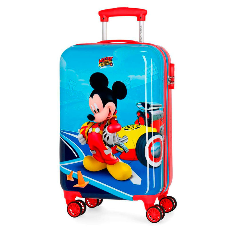 Maleta trolley ABS Lets Roll Mickey Disney 4r 55cm
