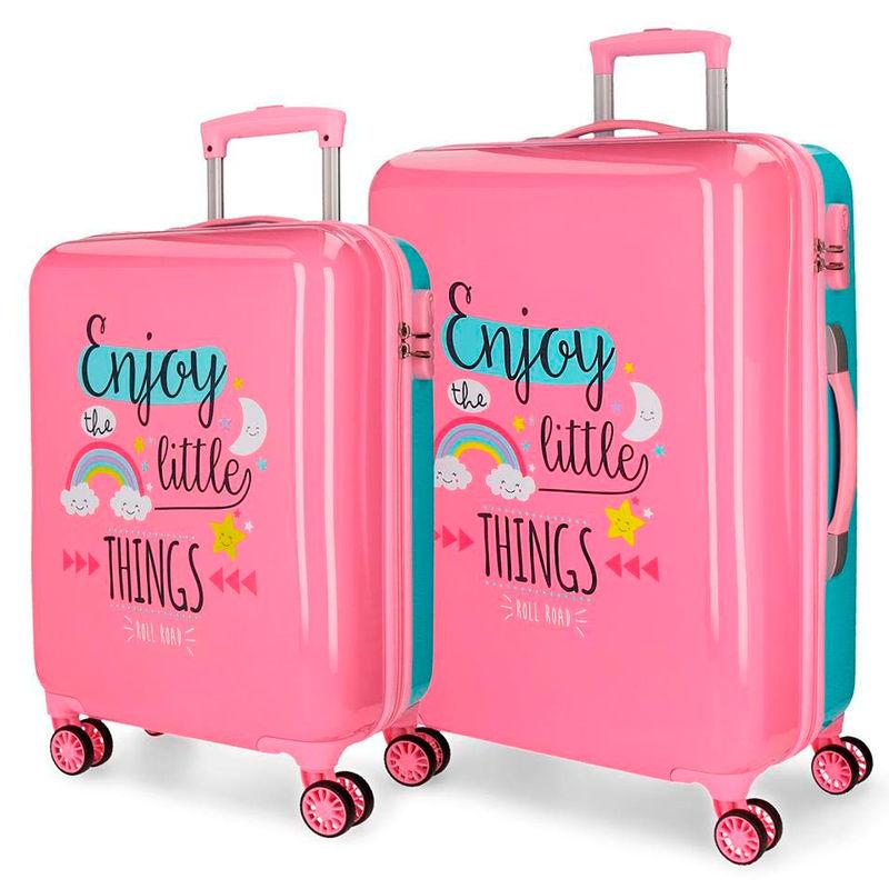 Set 2 maletas trolley Road Little Things 4r 55/67cm