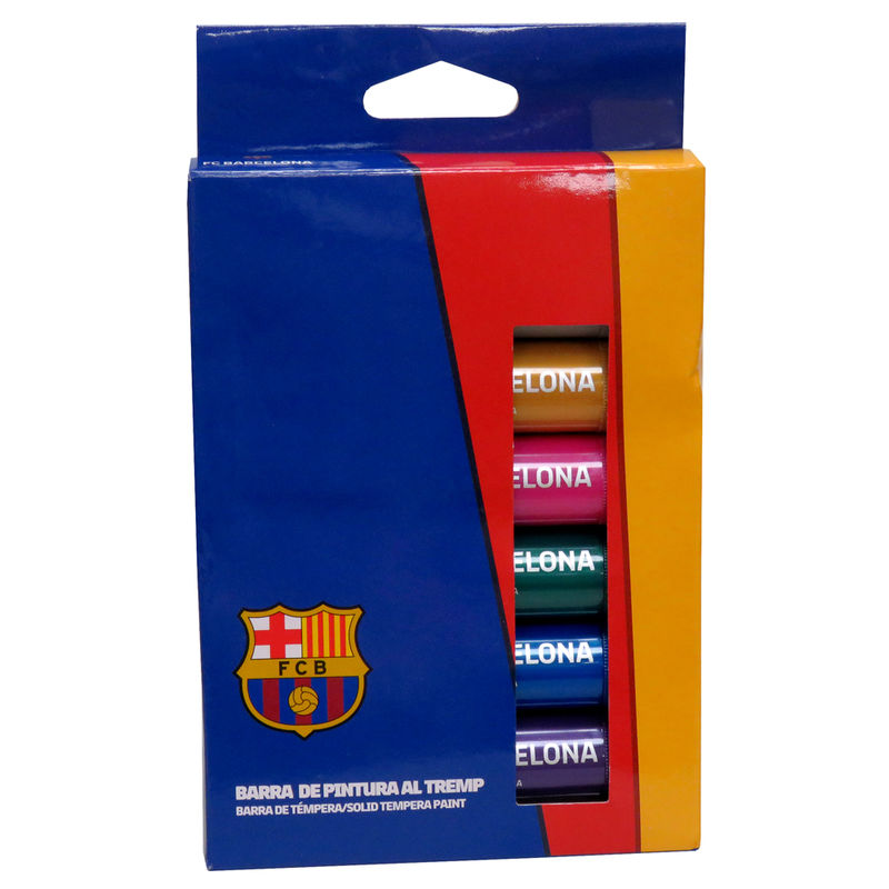 Caja temperas FC Barcelona en barra 8426842077932