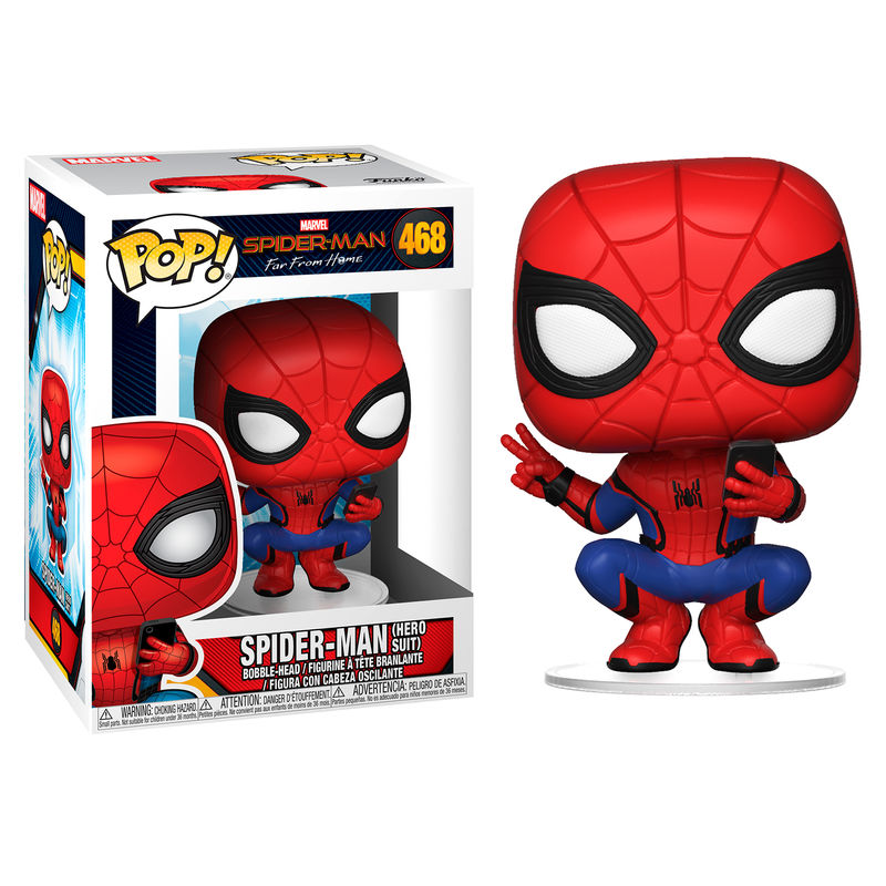 Figura POP Marvel Spiderman Far From Home Spiderman Hero Suit