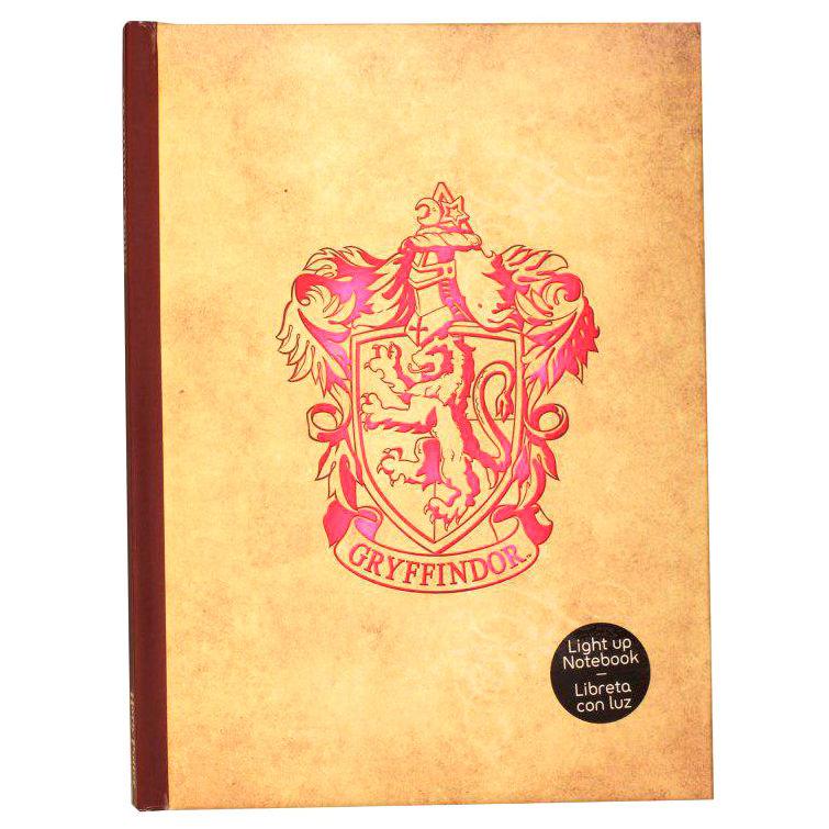 Libreta Gryffindor Harry Potter con luz