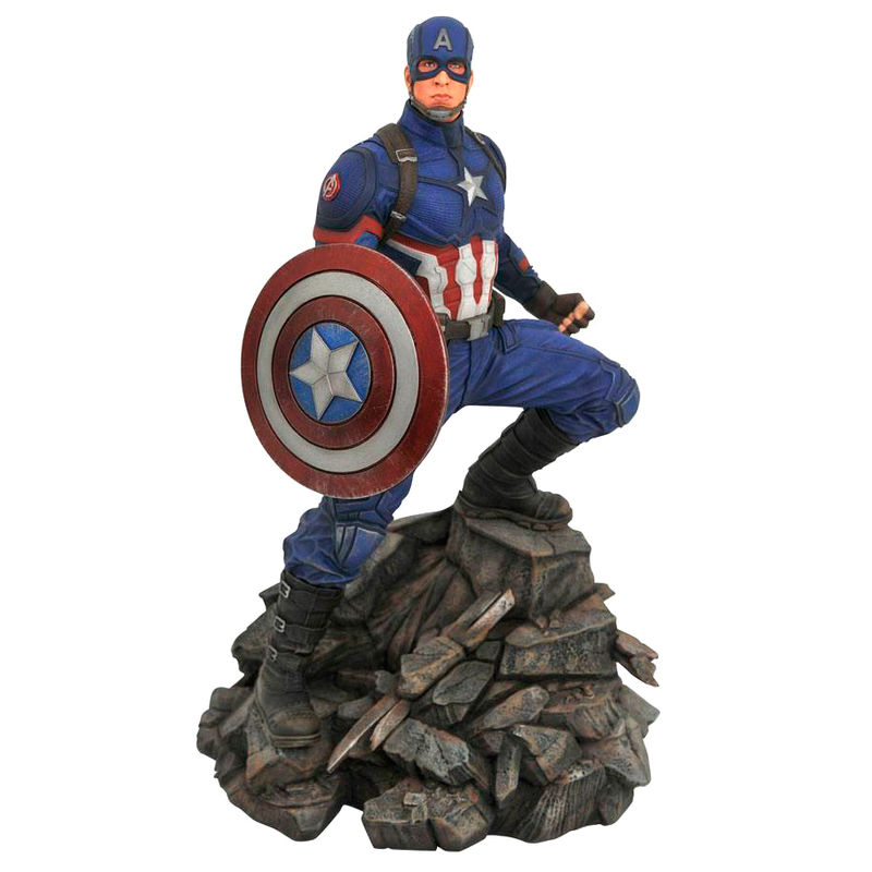 Estatua resina Capitan America Vengadores Endgame Marvel Movie Premier Collection 30cm By Diamon Select