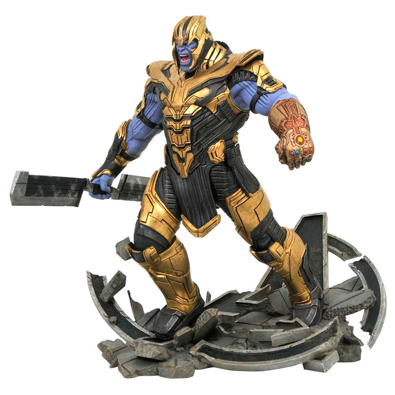 Estatua resina Thanos Vengadores Endgame Marvel Movie Milestones 40cm