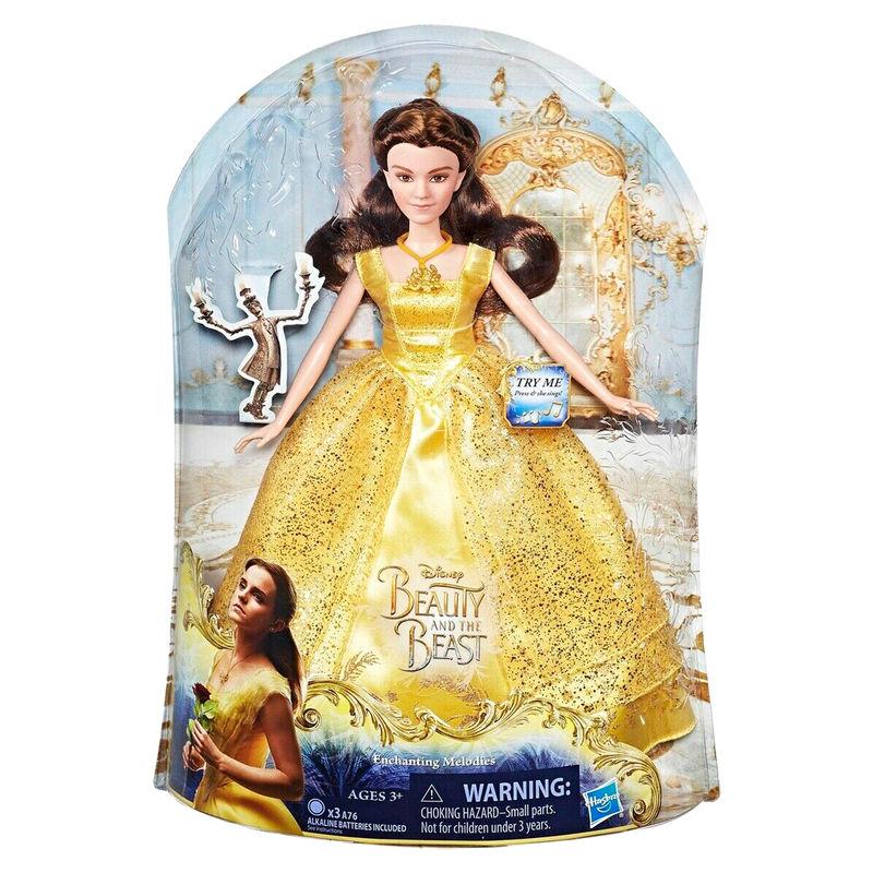 Muñeca Bella Melodias Encantadas La Bella y la Bestia Disney ingles