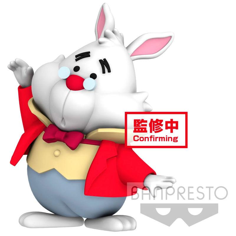 Figura Conejo Blanco Alicia en el País de las Maravillas Disney Character Cutte Fluffy Puffy 4cm