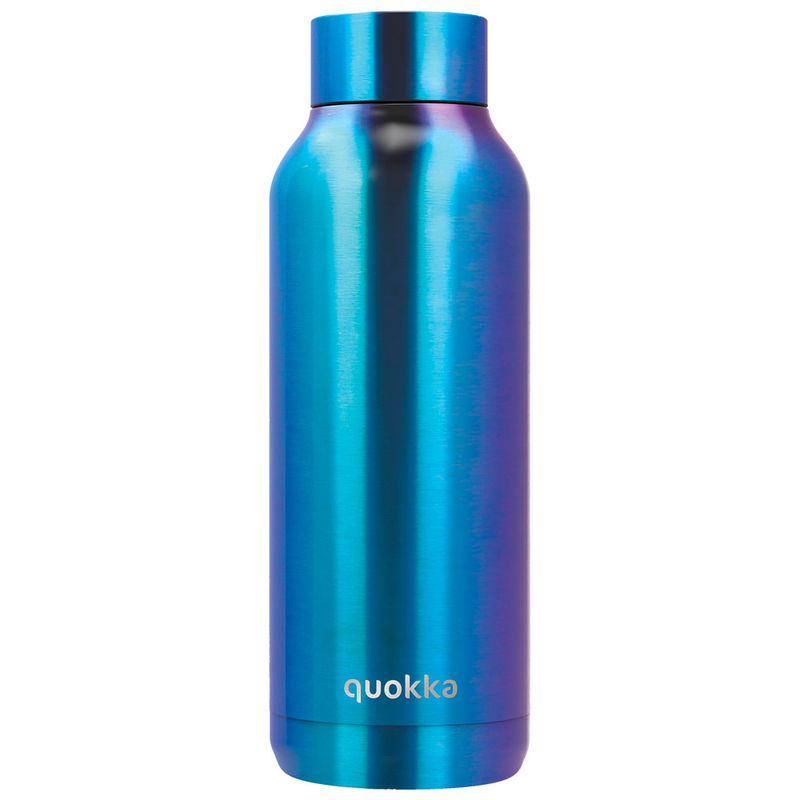 Botella Solid Blue Chrome Quokka 510ml 8412497118267