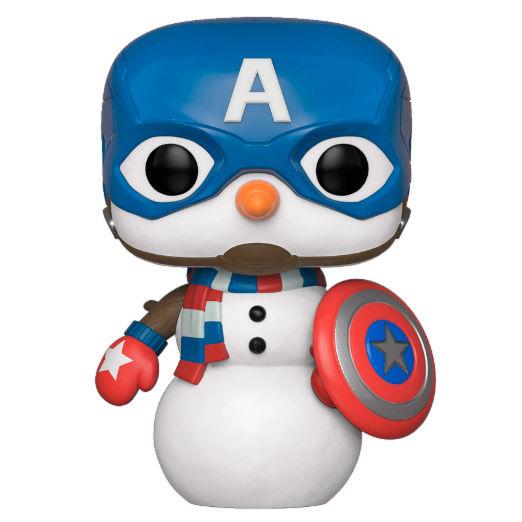 Figura POP Marvel Capitan America Navidad