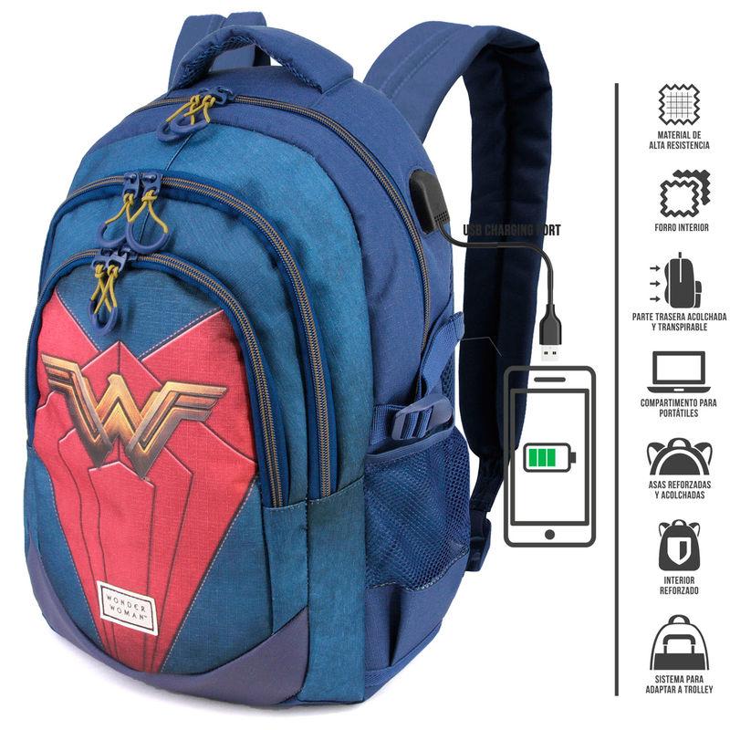 Mochila Wonder Woman DC Comics 44cm